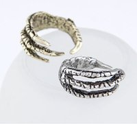 alternative wedding rings - new European and American vintage jewelry personalized alternative metal talons opening sub Ring