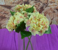 Wholesale Best Selling Artificial Hydrangea Flower Single Big Heads leaves Diameter quot Colors Avaliable for Home Hotel Decor