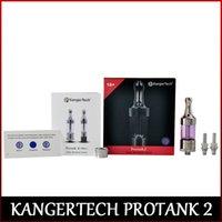 100% original Kang Protank 2 Clearomizer Kangertech Pro tanque 2 con piezas de repuesto Kang Protank 2 atomizador de cristal freeshipping