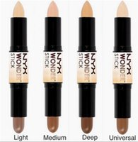 Wholesale only the cheapest stock ready go NYX Wonder stick highlights and contours shade stick Light Medium Deep Universal DHL Free