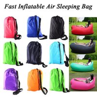 Wholesale Multiple colors Hiking Camping Fast Inflatabl Air Sleeping Bag Camping Bed Sofa Soft Bag Beach Hangout Laybed
