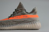 Wholesale Authentic V2 Sply Season With Original Box Tpu Real Boost New Kanye west Boost Sply350 Grey black Running Shoes size