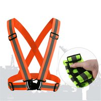 Wholesale Hot Degrees High Visibility Neon Safety Vest Reflective Belt Safety Vest Fit for Running Cycling Sports Outdoor Clothes
