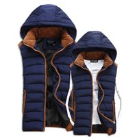 Wholesale The new coat paragraphs men and women lovers eiderdown cotton vest star with leisure couple cotton vest tide