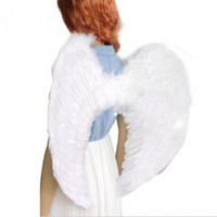 adult fairy wings - New Kids Fairy Nativity Angel Wings Adult Costume Fancy Dress Up Costume White Feather