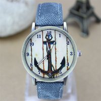 anchor pattern fabric - Ladies Girls Quartz Watch New Arrival High Quality Cloth Tape Casual Student Watches Simple Casual Cute Inner Anchor Pattern With Vertical