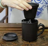 Wholesale Yixing Cup teacup Genuine handmade with liner filter purple clay tea cup with cover ml mug puer oolong onsale
