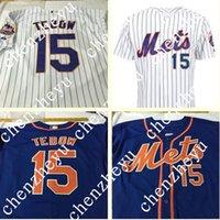 baseball pinstripe - Custom New York Mets tebow Jersey Alternate Blue Jersey New York Mets White Pinstripe Road gray Cool Base baseball Jersey