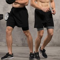 athletic works shorts - Fitness Shorts Fifth Long Running Compression Bottoms in Dry Fitting Athletic Short Pants High Elastic Inner Shorts Work Out Black