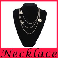 american trailer - New hot Ladies Diamond Jewelry Charm Pendant Necklace trade multilayer trailers of Europe and America