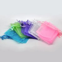 Wholesale 1000pcs Light Color Jewelry Packing Drawable Organza Bags x9cm Wedding Gift Bags Pouches colors