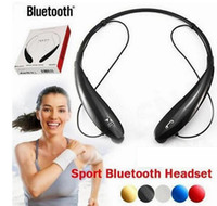 Wholesale 5 Colors TONE HBS HBS HBS Electronical Sports Stereo Bluetooth Wireless Headset Earphone Headphones for iPhone s c LG Samsung