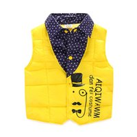 Wholesale Waistcoats For Boys Kids Winter Outwear Vest Kids Solid Kids Vest Boy Jackets New Style Children Outerwear Kids Vest Boys