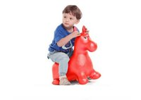 baby horse - Jumping Horse Ride On Bouncy Inflatable Animal Toys Baby Children Sport Fitness Game Red Blue Green