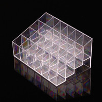 Wholesale Clear Acrylic Lipstick Holder Display Stand Cosmetic Organizer Makeup Case Cosmetics Display Stand Hot Selling