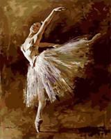 ballet oil - Fashion X50cm Frameless DIY Digital Oil Canvas Painting Ballet Queen by Numbers Kits with Pigment Home Decor Wall Decor