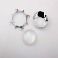 Wholesale mm Lens mm Reflector Collimator Base Housing Fixed bracket for W W LED Lights Lamp Top sale NEW