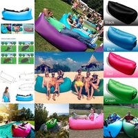 air agent - Fast Inflatable Camping Sofa Banana Sleeping Lazy Chair Bag Nylon Hangout Air Beach Bed Chair Couch