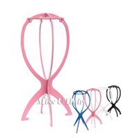 wig stand - Wig stand multicolor plastic wig stand holder folding wig stand head tripod wig stand for Travel