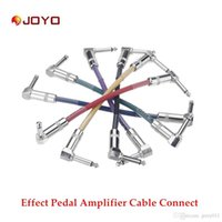 amp cabling - 6pcs Joyo CM Colorful Guitar Cable Connect Effect Pedal Amplifier Amp for Electric Guitar Top Quality