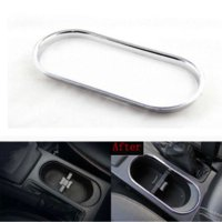 auto body trims - For SUBARU Forester Car Water Cup Holder Decoration Box Sticker Abs Chrome Trim Auto Accessories pc Per Set