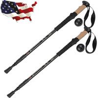 Wholesale Alpenstock Adjustable Pair Anti Shock Trekking Walking Hiking Sticks