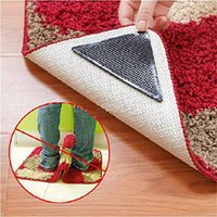 Wholesale 4pcs Rug Carpet Mat Grippers Non Slip Reusable Washable Silicone Grip