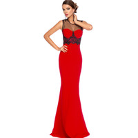 beaded panels - 2016 Summer New Runway Dress Women High Quality Sleeveless Mesh Splice Beaded Royal Blue Red Pink Evening Dress