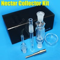 Nectar Collector kit miel paille 2.0 verre conduites d'eau du tuyau mini-bong deux fonctions voyage de quartz de titane bongs 14MM Oil Rigs Dabs DHLfree