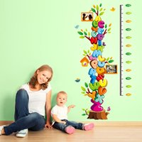 alphabet growth chart - Children height stickers can be removed wall stickers Cartoon cute baby bedroom waterproof PVC alphabet stickers