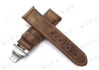 Wholesale 24mm Genuine Assolutamente Calf Leather Strap PAM Asso Watch Band W mm Bushed Deployant Padded Watchband Bracelet Men