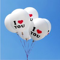 Wholesale Durable inch I LOVE YOU Pearl Latex Balloons Globos ballons For Christmas Wedding Decorations Fast Shipping