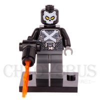agent modelling - Crossbones Agent Brock Rumlow Hydra Minifigures Marvel Super Heroes The Avengers Model DIY Building Blocks Kids Gifts Toys