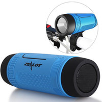 bank flash - Zealot S1 Bluetooth Speaker Wireless Portable Subwoofer with Power Bank LED Flash Light for Smartphone PC Cycling Outdoor Sports
