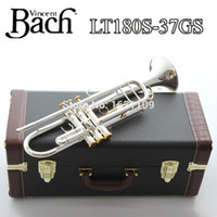 bach trumpet mouthpieces - New Bach Brass Trumpet LT180S GS Bb Silver Plated Trompeta Profissional Instrumentos Case Mouthpiece