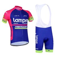 bicycle short sleeve jersey - 2015 Breathable Lampre Merida Racing Bike Cycling Clothing Summer Short Sleeves Ropa Ciclismo Cycling Jerseys Bicycle Clothes