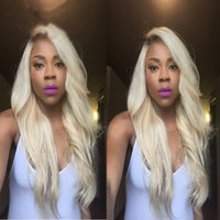 Cheap Honey Blonde Body Wave Ombre #1B 613 Human Hair Full Lace Wigs With Baby Hair Lace Front Wig For Black Woman