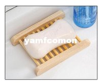 bathroom accessory wood - Novelty Households Product Wood Soap Dishes Tray Wooden Box For Sponge Holder Bathroom Accessories