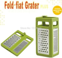 Wholesale 4 in kitchen grater Folds Flat grater for easy storage