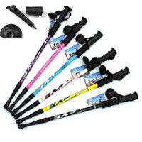 """Cheap Wholesale-1PC Adjustable AntiShock Trekking Hiking Walking Stick Pole 3-section 66cm-135cm  26 """" to 53 """" with Dropshipping"""