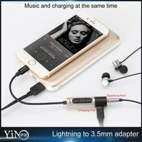 Wholesale Usams in1 Audio Charger adapter mm Earphone adapter Iphone headphone Cable Earphone charge Port for iphone Plus