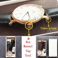 analog tools - Waterproof Daniel Wellington Watch Calendar Mens Watches Top Brand Luxury Military Watch mm Men DW Watch relogio masculino Box Manual Tool