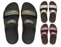 Women arch beading - Women FF Aztek Chada Leather Slide Sandals Microwobbleboard midsole Embellished suede slide micromosaic metallic studs Built in arch contour