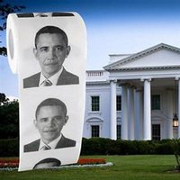 Wholesale President Barack Obama Toilet Paper Roll Party Gag Gift Prank Humor Fun Joke