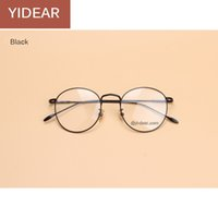 Wholesale YIDEAR Retro women glasses frame ultra light frame thin alloy metal circular frame flat glasses eyeglasses frame for men