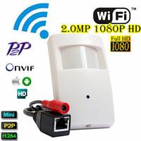 Wholesale Hot Sale Megapixel Spy PIR WIFI Camera Pir Motion Detector Pinhole Camera Pir Style Mini Wifi Camera Covert PIR IP Camera For P