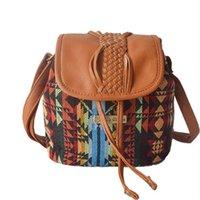 argyle bag - Fashion Women Handbags European and American Style Shoulder Bag Argyle Plaid Bucket Canvas Messenger Bags Lady Crossbody Bags