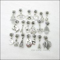 Wholesale Mix Tibetan silver Bead Charm big hole pendant fit Pandora charm bracelet DIY pendant X041