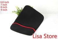 Black Unisex Fasion Free Ship 10pcs Universal Laptop Sleeve Notebook Computer Sleeve Waterproof Tablet PC Protective Bag for 6.8 7 8 9 inch