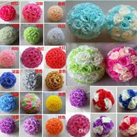 pomander - Available Colors cm Wedding Decorations Silk Kissing Pomander rose Flowers Balls Wedding bouquet Home decorations Free shi